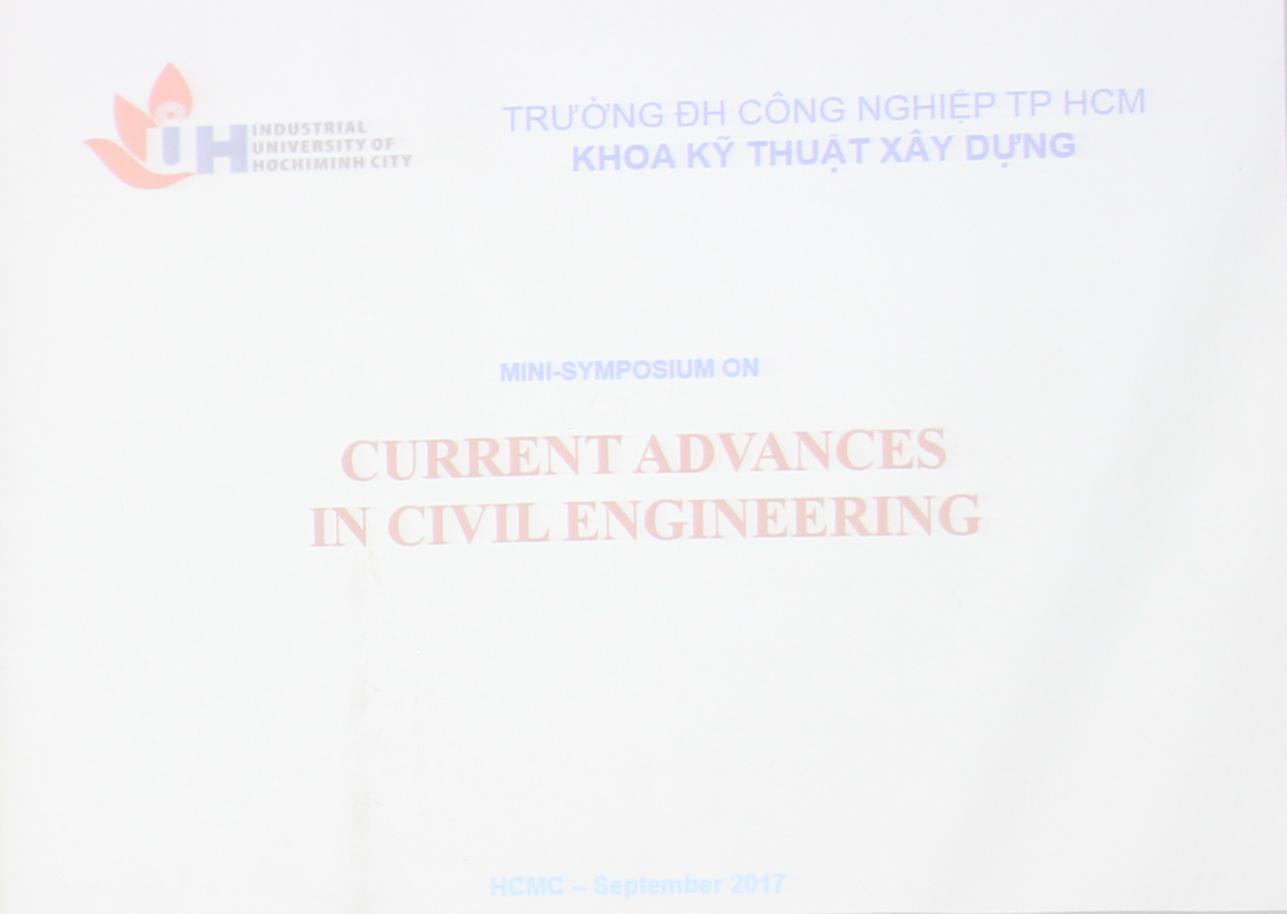 "Hội thảo:"" Current Advances in Civil Engineering"""